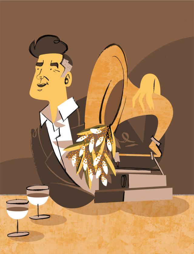 Morrissey calendario Gold Soundz illustrazione disegno